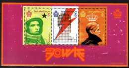 2017 San Marino -70 Years Of D. Bowie Bithday - MS MNH** -MiNr. 2714 - 2716 (Block 79) Music, Rock - San Marino