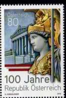 2018 Austria - 100 Years Of Austria Republic - 1v MNH**MiNr. 3421 Palace, Sculpture, History, World War I - 1945-.... 2. Republik