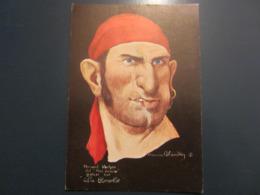 Carte Postale Les Corsaires Etienne Blandin Fernand Vacher Dit Mal Cousu - Andere Zeichner