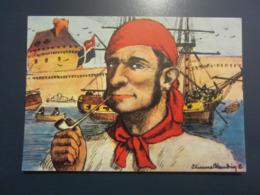 Carte Postale Les Corsaires Etienne Blandin Prosper Margny Dit La Gargousse - Andere Zeichner