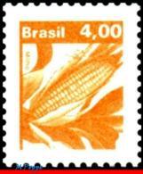 Ref. BR-1660 BRAZIL 1980 FLOWERS, PLANTS, ECONOMIC RESOURCES,, CORN, CEREALS, MNH 1V Sc# 1660 - Brasilien