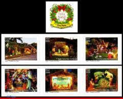 Ref. BR-3106-12 BRAZIL 2009 CHRISTMAS, RELIGION, GARLAND,, CRECHES, SET COMPLETE MNH 7V Sc# 3106-3112 - Ongebruikt