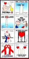 Ref. BR-3206 BRAZIL 2011 HEALTH, AIDS PREVENTION CAMPAIGNS, , MNH 8V Sc# 3206 - Brasilien