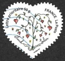FRANCE  2008  -  YT 149   - Adhésif -  Coeur De Sorbier   -  Oblitéré - Adhésifs (autocollants)