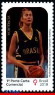 Ref. BR-V2019-17 BRAZIL 2019 FAMOUS PEOPLE, WOMEN WHO MADE HISTORY,, HORTENCIA, QUEEN OF BASKETBALL, MNH 1V - Donne Celebri