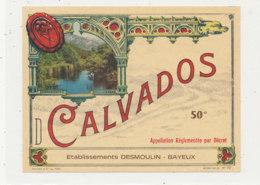532 / ETIQUETTE - CALVADOS  ETS DESMOULIN BAYEUX   (CALVADOS) - Unclassified