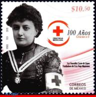 Ref. MX-2672 MEXICO 2010 HEALTH, RED CROSS, 100 YEARS,, MNH 1V Sc# 2672 - Red Cross