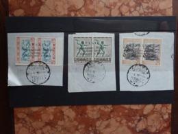 OCCUPAZIONI ITALIANE - CEFALONIA E ITACA - Argostoli Nn. 11-13-15 Timbrati Su Frammento + Spedizione Prioritaria - 9. Occupazione 2a Guerra (Italia)