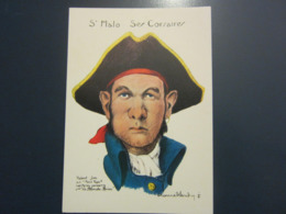 Carte Postale Les Corsaires Etienne Blandin Hubert Jan Dit Petit Pape - Andere Zeichner