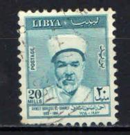 LIBIA - 1964 - AHMED BAHLOUL EL-SHAREF - POETA MORTO NEL 1953 - USATO - Libia