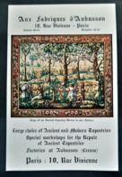 AUX FABRIQUES D'AUBUSSON 1920 TAPISSERIES ANCIENNES REPARATION USINE CREUSE PUBLICITE ANTIQUE AD ANCIENT TAPESTRIES - Advertising