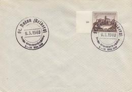 Blanko Sonderstempelbeleg 1940: St. Anton: Kriegsskimeisterschaft, Winterhilfsw. - Alemania
