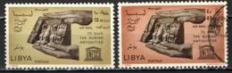 LIBIA - 1966 - CAMPAGNA DELL'UNESCO PRO MONUMENTI DI NUBIA - USATI - Libia