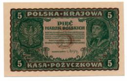 POLOGNE // 1919 // 5 Marek // AU/SPL - Poland