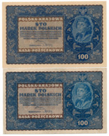 POLOGNE // 1919 // 2 X 100 Marek // XF/SUP - Pologne