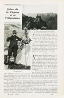 Joies De La Chasse Et De L`Alpinisme /  Article,  Pris D`un Magazine / 1910/1911 - Boeken, Tijdschriften, Stripverhalen