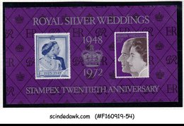GREAT BRITAIN - 1972 ROYAL SILVER WEDDING / STAMPEX - MIN/SHT MNH - Blocchi & Foglietti