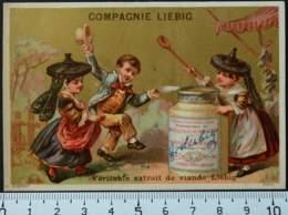 LIEBIG CHROMO ESPAGNE 1880 HUTINET PARIS CARTE-RECLAME PUBLICITÉ 9 MÉDAILLES D'OR USINE FRAY BENTOS VICTORIAN TRADE CARD - Liebig
