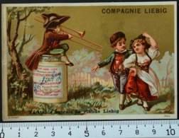 LIEBIG CHROMO DORÉ 1880 HUTINET PARIS CARTE-RECLAME IMAGE PUBLICITÉ RECETTE EXTRAIT VIANDE VICTORIAN TRADE CARD - Liebig