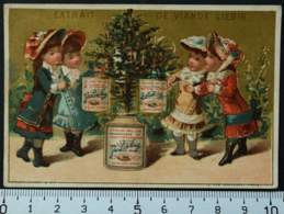 LIEBIG CHROMO SAPIN NOËL 1878 VALLET MINOT PARIS CARTE-RECLAME PUBLICITÉ VICTORIAN TRADE CARD AD CHRISTMAS TREE GIFTS - Liebig
