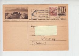 SVIZZERA  1946 - CP (Blonay) - Annullo Meccanico - Comunicazioni  Telefoniche - Telecom