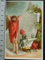 CACAO VAN HOUTEN TORRET LYON CHROMO CHOCOLAT 1880 IMAGE PUBLICITÉ CARTE-RECLAME PRESSE JOURNAL UNIVERS DIEU ATLAS - Van Houten