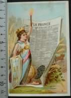 CACAO VAN HOUTEN TORRET LYON CHROMO CHOCOLAT 1880 IMAGE PUBLICITÉ CARTE-RECLAME PLACE BELLECOUR PRESSE FRANCE - Van Houten