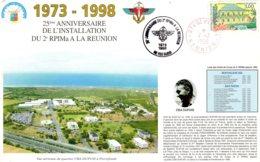 1973  -  1998   25° Anniversaire De L'installation Du 2° RPIMa   A La Reunion - Frankreich