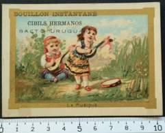 CIBILS HERMANOS SALTO URUGUAY BOUILLON CHROMO 1880's CARTE-RECLAME PUBLICITÉ CONCURRENT LIEBIG VICTORIAN TRADE CARD MARK - Liebig
