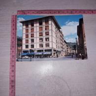 C-78430 AOSTA VIA FESTAZ E VIALE STAZIONE PANORAMA AUTO D'EPOCA PUBBLICITA CARPANO PUNT&MES - Aosta