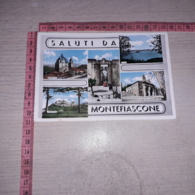 C-78431 SALUTI DA MONTEFIASCONE PANORAMA VEDUTE CATTEDRALE LAGO PORTA DEL BORGO CORSO CAVOUR - Italy