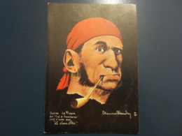 Carte Postale Les Corsaires Etienne Blandin Suliac Le Pivain Dit Cul D'trombone - Andere Zeichner