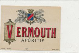 AN 669 / ETIQUETTE     VERMOUTH APERITIF   N° 340 - Etiketten