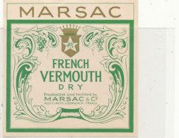 AN 683 / ETIQUETTE     VERMOUTH    DRY  MARSAC & Cie BORDEAUX - Labels