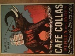CPM CAFE COLLAS CIE ANTILLES TOURS ELEPHANT PHALENE PUB PUBLICITE ANCIENNES COLLEC AUTHENTIQUES IMAGINAIRES 2007 - Pubblicitari