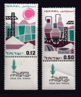 ISRAEL, 1965 Unused Stamp(s), With Tab, Dead Sea Works, SG313-314, Scannr. 17594 - Israël