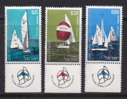 ISRAEL, 1970, Unused Stamp(s), With Tab, World Yachting, SG451-453, Scannr. 17636 - Israël