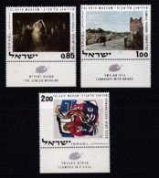 ISRAEL, 1970, Unused Stamp(s), With Tab, Paintings, SG465-467, Scannr. 17641 - Israël