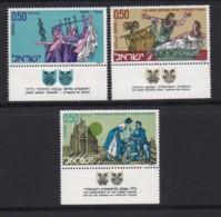 ISRAEL, 1971, Unused Stamp(s), With Tab, Art Of The Theatre, SG468-470, Scannr. 17643 - Israël
