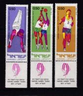 ISRAEL, 1971, Unused Stamp(s), With Tab, Hapoel Games, SG481-483, Scannr. 17647 - Israël