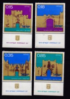 ISRAEL, 1971, Unused Stamp(s), With Tab, Independence - Gates, SG476-479, Scannr. 17646 - Israël