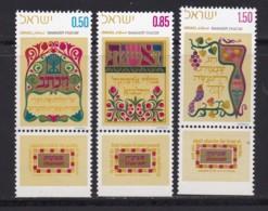 ISRAEL, 1971, Unused Stamp(s), With Tab, Shavuot Feast, SG484-486, Scannr. 17648 - Israël