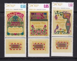 ISRAEL, 1971, Unused Stamp(s), With Tab, Shavuot Feast, SG484-486, Scannr. 17648 - Nuevos (con Tab)