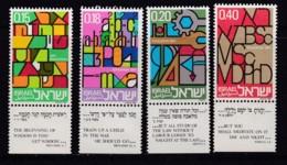ISRAEL, 1972, Unused Stamp(s), With Tab, Education, SG512-515, Scannr. 17652 - Israël