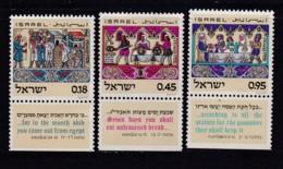 ISRAEL, 1972, Unused Stamp(s), With Tab, Feast Of Pesah, SG521-523, Scannr. 17654 - Israël