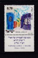ISRAEL, 1972, Unused Stamp(s), With Tab, The Ari-Y.Luria, SG532, Scannr. 17659 - Israël