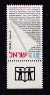 ISRAEL, 1972, Unused Stamp(s), With Tab, International Book Year, SG533, Scannr. 17660 - Israël