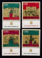 ISRAEL, 1972, Unused Stamp(s), With Tab, Independence Day - Gates, SG527-530, Scannr. 17657 - Israël