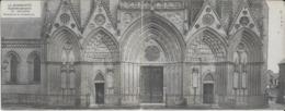 14.- BAYEUX .- Détail De La Cathédrale  ( Carte En 2 Volets Offert Par Le Journal Le Matin - Bayeux