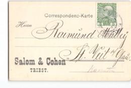 17639 SALOM & COHEN TRIEST TRIESTE - Brieven En Documenten